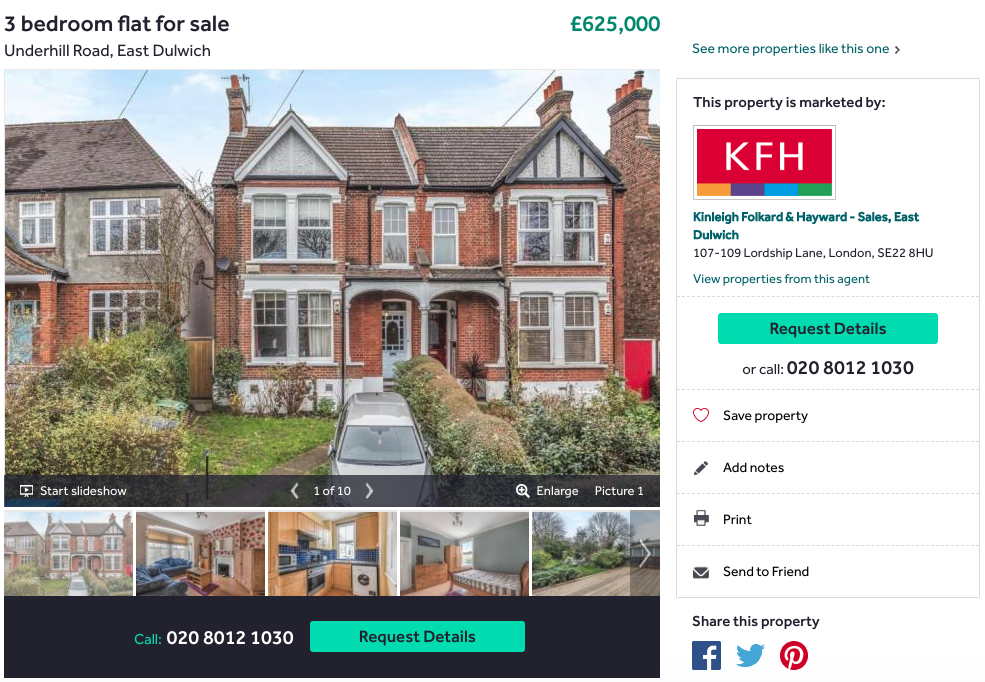 Rightmove listing of a house to buy - ScrapingBot Case Study