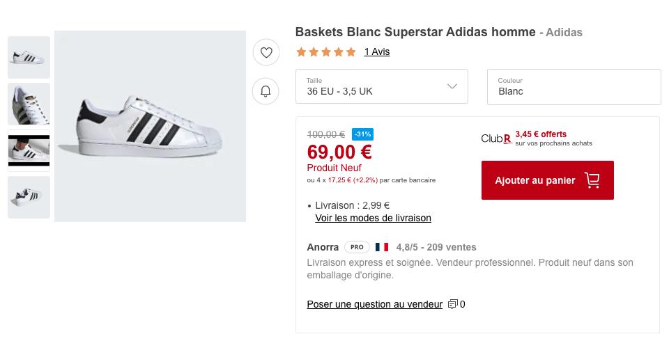 Adidas Scraping Rakuten