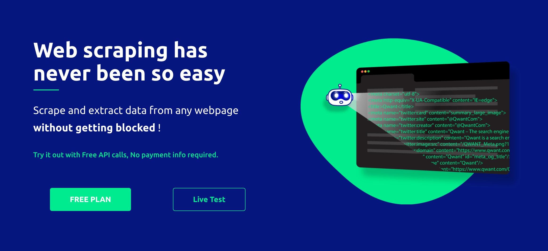 ScrapingBot • Web Scraping API   Extract HTML content